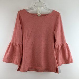 J Crew striped bell long sleeves top Size M